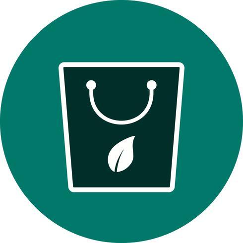 Eco tas vector pictogram