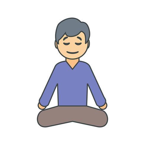 Vector Yoga Icon