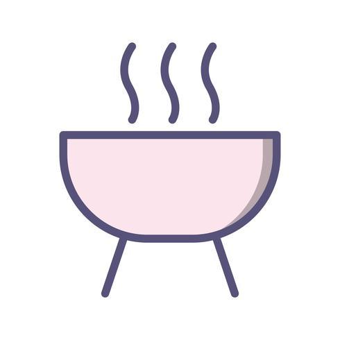 Icona di vettore di barbecue