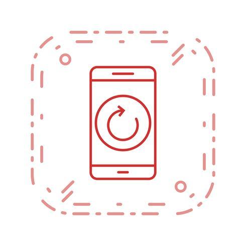 Reset mobiele applicatie vector pictogram