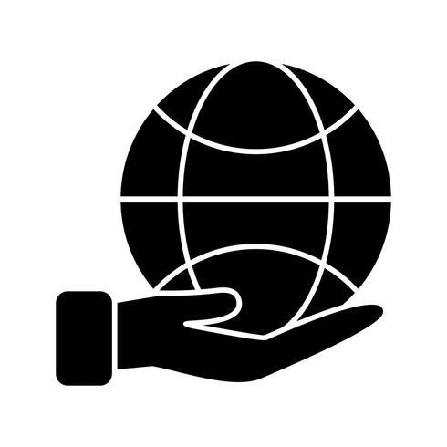 Aarde bij de hand Vector pictogram