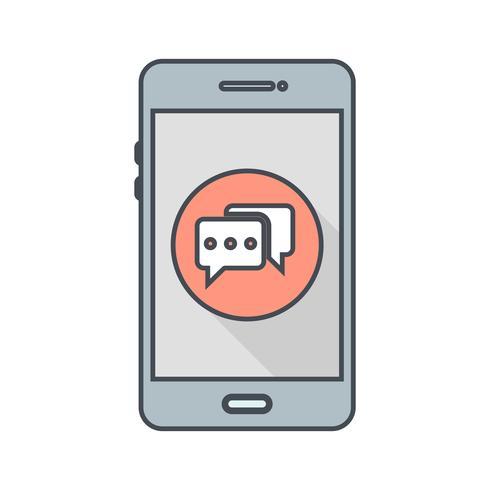 Icono de Vector de aplicación móvil de conversación