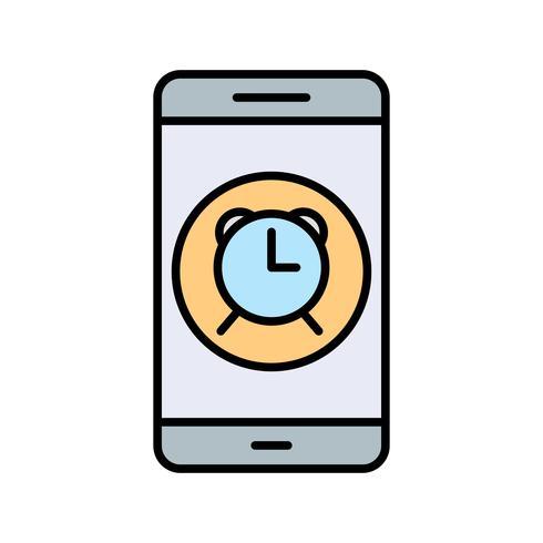Icône de vecteur d'application mobile d'alarme