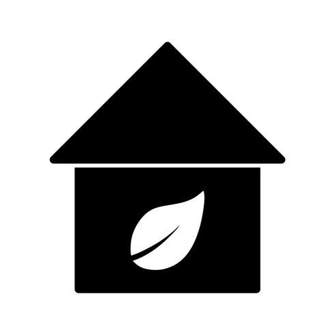 Ícone de vetor Eco casa