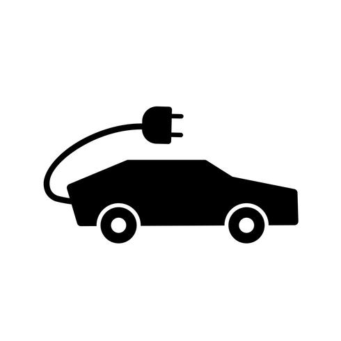 Icono de Vector de coche eléctrico