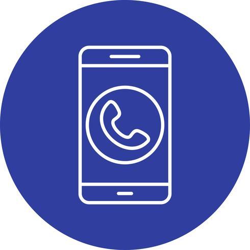 Chiama l'icona di vettore dell'applicazione mobile