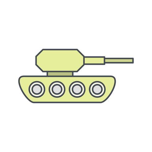Icona di vettore del carro armato