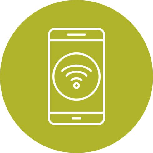 Icône de vecteur d'application mobile Wifi