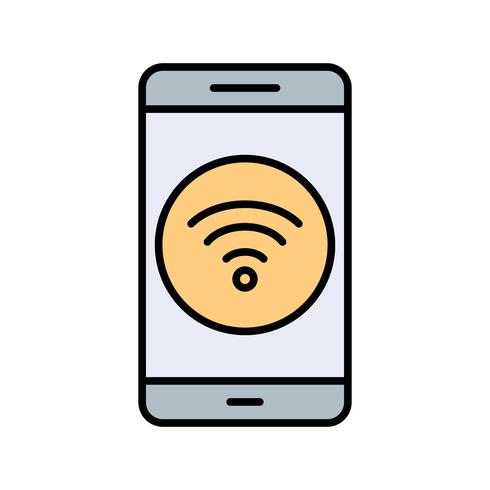 Wifi mobiele applicatie Vector Icon