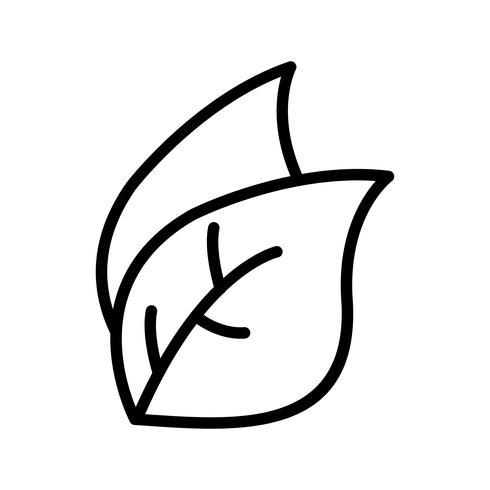 Icône de vecteur de feuille