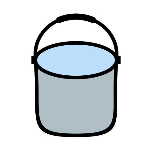 Icono de vector de cubo