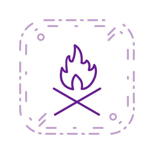 Bot vuur Vector pictogram