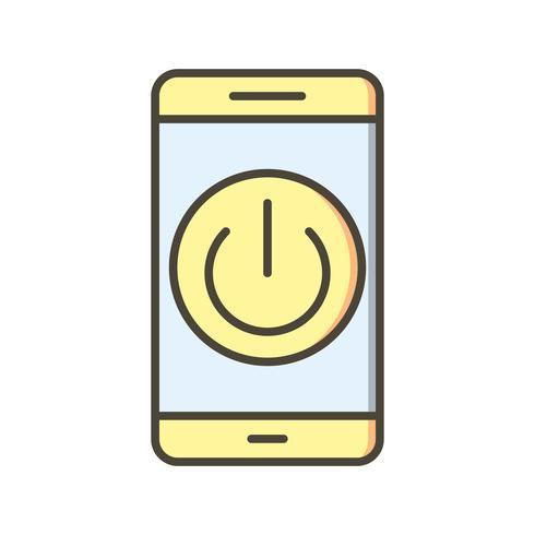 Schalten Sie die Mobile Application Vector Icon aus