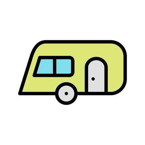 Icône de vecteur de caravane