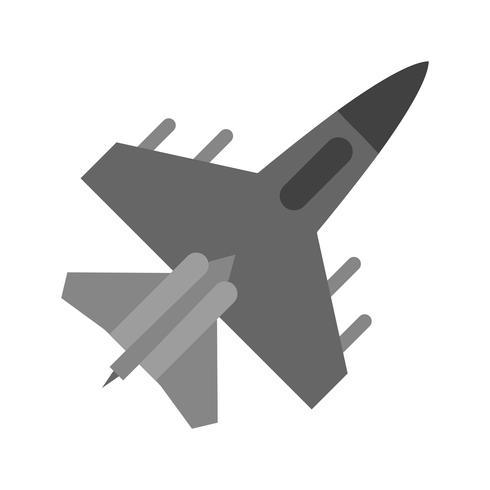 Icône de vecteur de jet