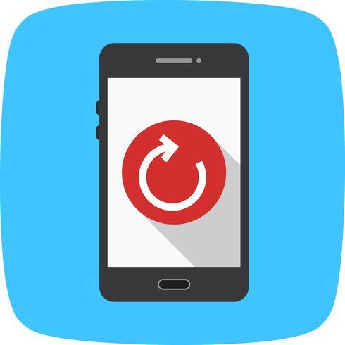 Réinitialiser l'icône Vector application mobile