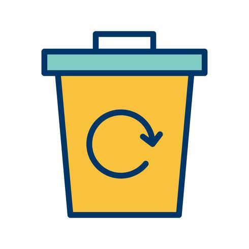 Abfall bereiten Vektor-Ikone auf
