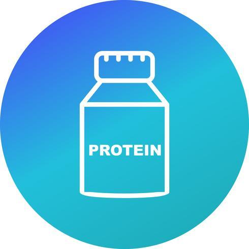 Icône de protéine de vecteur