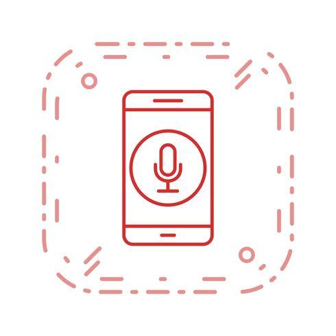 Icône de vecteur d'application mobile microphone
