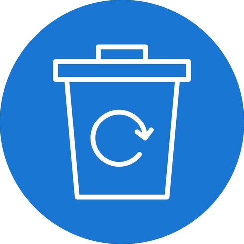 icône de vecteur de recyclage des ordures