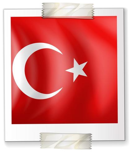 Bandiera della Turchia su carta