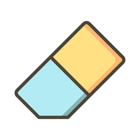 Radiergummi-Vektor-Symbol