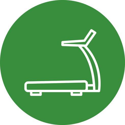 Icône de tapis roulant de vecteur