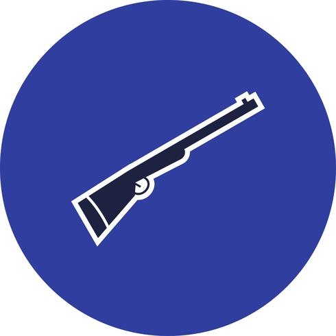 icône de vecteur de fusil de chasse