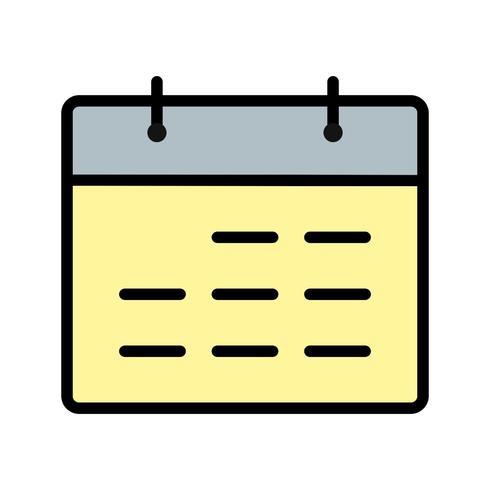 Kalender-Vektor-Symbol
