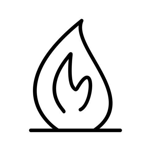 Icône de vecteur de feu
