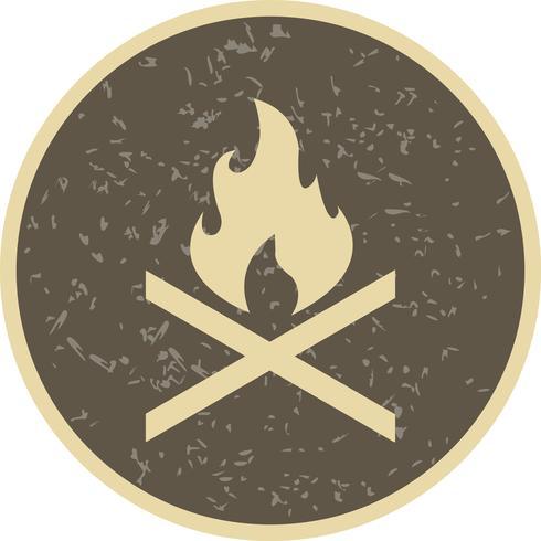 Knochenfeuer Vektor Icon