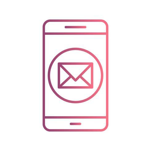 Icône de vecteur d'application mobile Message