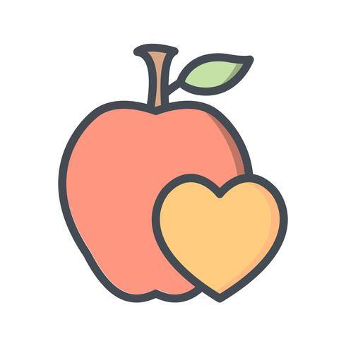 Icône de vecteur des aliments sains