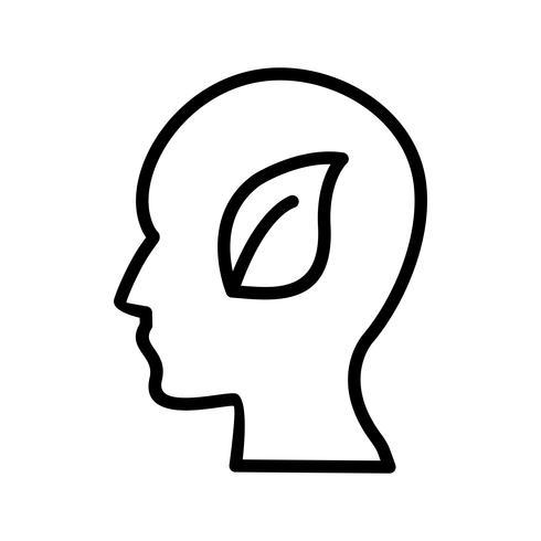 eco mind vector icon