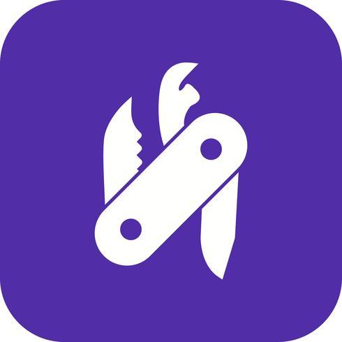 Icona di vettore di coltellino svizzero