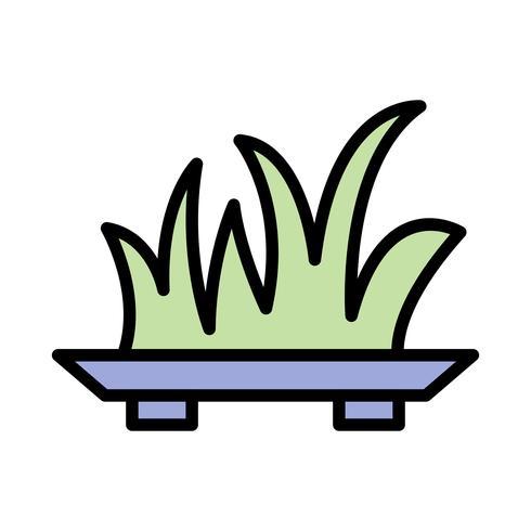 Icône de vecteur d'herbe