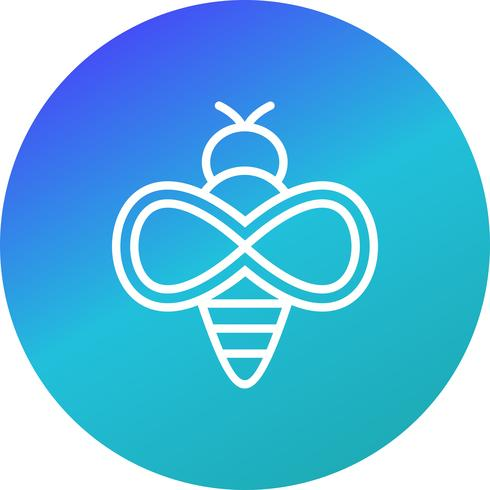 Icono de vector de abeja