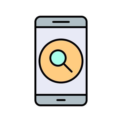 Icona di ricerca applicazione mobile vettoriale