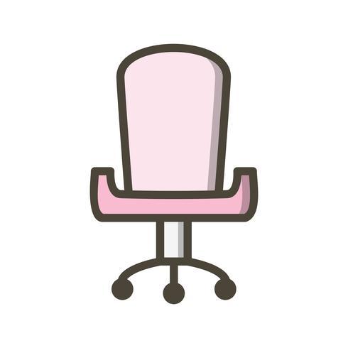 Icône de vecteur de chaise de bureau