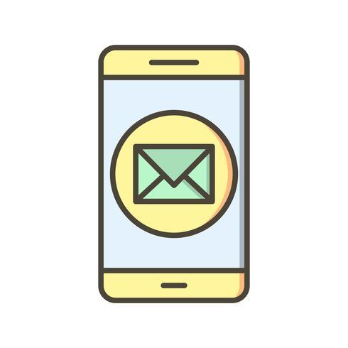 Nachricht mobile Anwendungssymbol Vektor