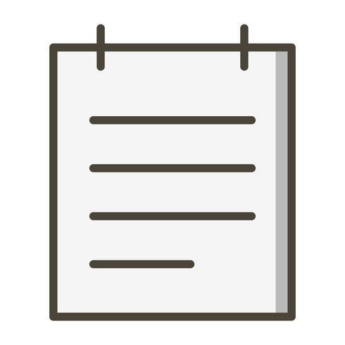 Kladblok Vector Icon