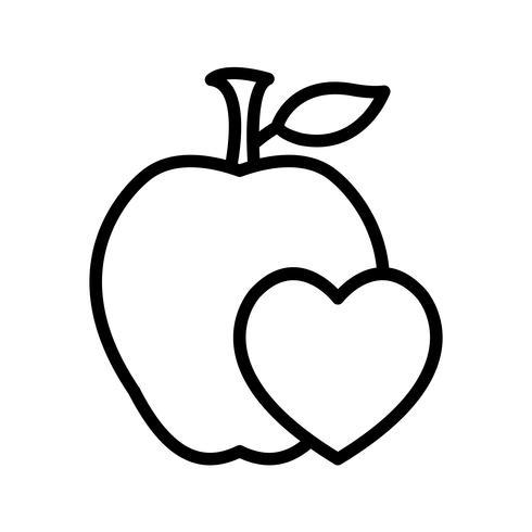 Icona di cibo sano vettoriale