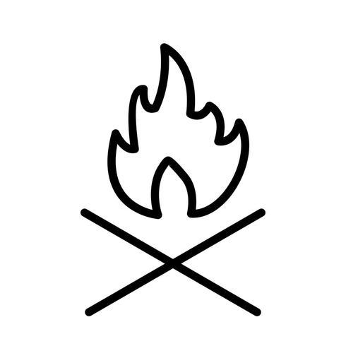 Bone fire Vector Icon