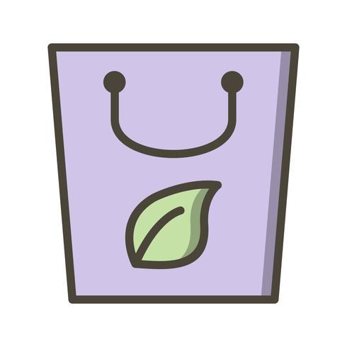 Ícone de vetor de saco de eco
