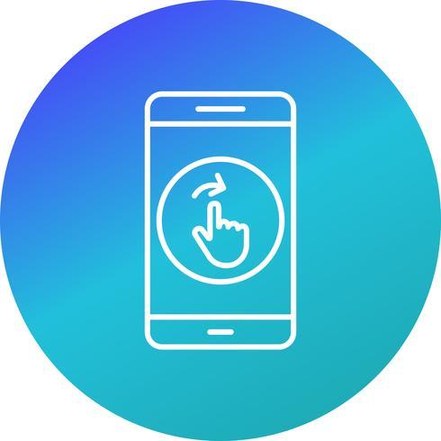 Balayez l'icône Vector Application Mobile