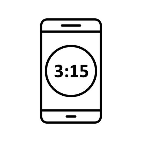Time Display Mobile Application Vector Icon