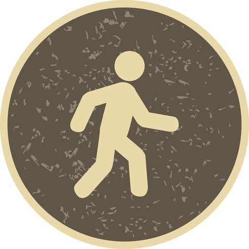 Icona di vettore a piedi