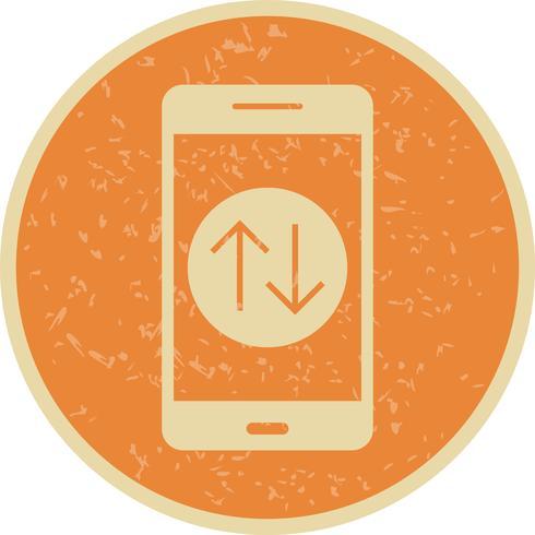Icona di vettore di applicazione mobile di connessione dati