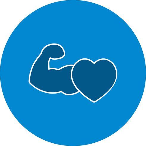 Vector icono de corazón sano