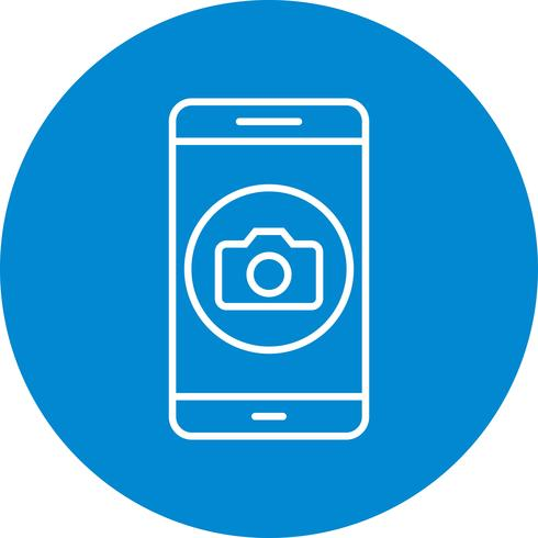 Camera mobiele applicatie Vector Icon